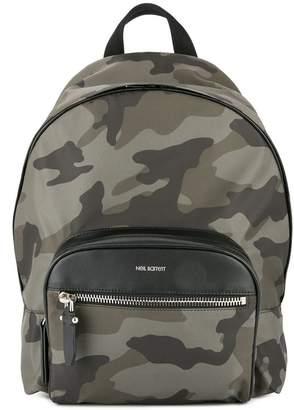 Neil Barrett camouflage print backpack