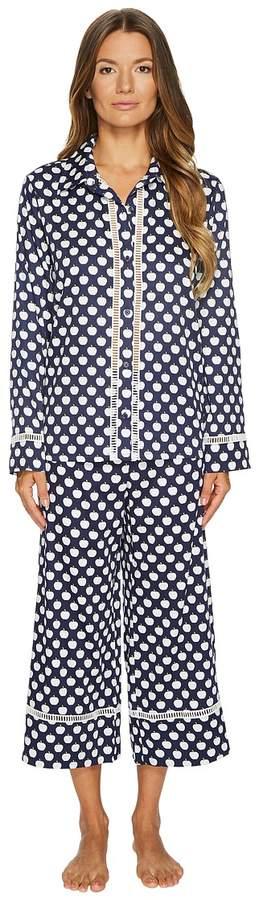 Kate Spade New York - Cotton Sateen Cropped Pajama Set Women's Pajama Sets