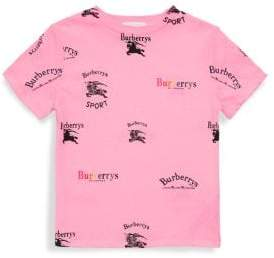 Burberry Little Girl's& Girl's Cotton Logo Top
