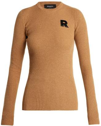 Rochas Logo-appliqué ribbed cashmere sweater