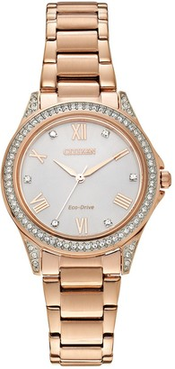 Citizen Drive from Eco-Drive Women's POV Rose Gold Tone Stainless Steel Watch - EM0233-51A