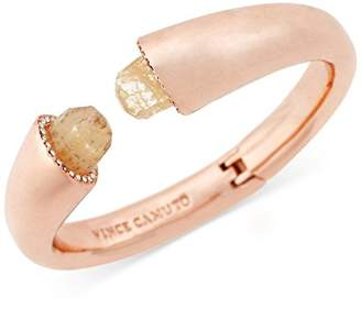 Vince Camuto Crackle Chard Hinged Cuff Bracelet