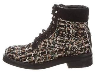 Chanel Tweed Ankle Boots