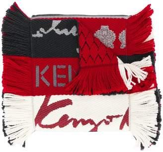 Kenzo fringed striped scarf