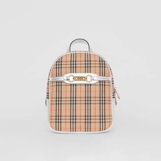 Burberry The 1983 Check Link Backpack, Grey
