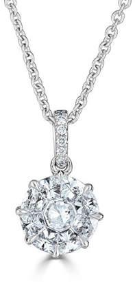 ZYDO 18k Mosaic Round Diamond Pendant Necklace