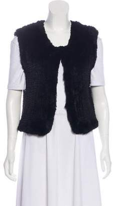 Saks Fifth Avenue Fur Crew Neck Vest