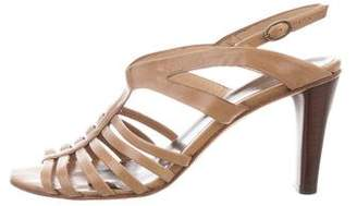 CNC Costume National Leather Multistrap Sandals