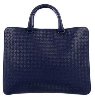 Bottega Veneta Intrecciato Briefcase w/ Shoulder Strap