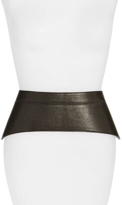 Raina 'Peplum' Leather Corset Belt