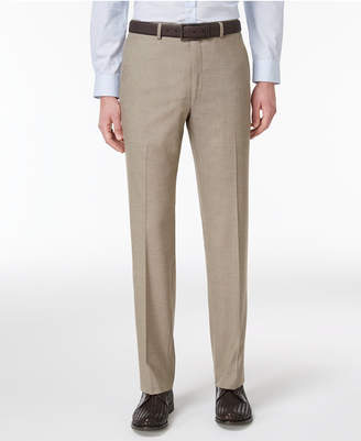 Alfani Closeout! Men's Slim-Fit Traveler Light Brown Neat Pants