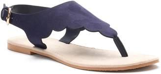 Lauren Conrad Women's Scalloped Slingback Thong Sandals