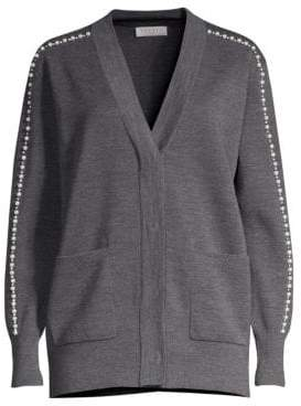 Sandro Nuages Embellished Cardigan