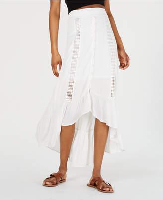 American Rag Juniors' Printed High-Low Maxi Skirt