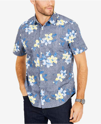 Nautica Men's Floral Print Classic Fit Shirt