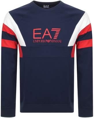 Emporio Armani Ea7 EA7 Logo Sweatshirt Navy