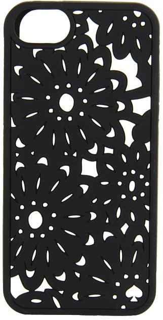 Kate Spade Oaxaca Floral Silicone Phone Case for iPhone 5 (Black) - Bags and Luggage