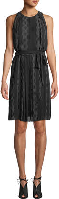 Diane von Furstenberg Ria Sleeveless Scalloped Chiffon Dress