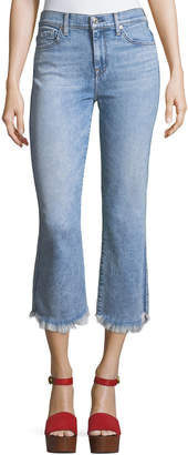 7 For All Mankind Ali Cropped Jeans with Raw-Edge Hem