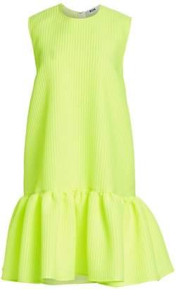 MSGM Neon Sleeveless Drop Waist Dress