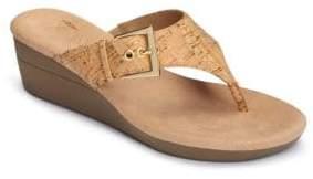 Aerosoles Flower Cork Slip-On Sandals