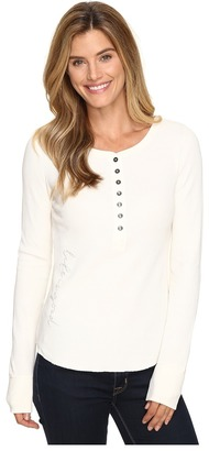 Life is Good® Script Long Sleeve Waffle Henley $48 thestylecure.com