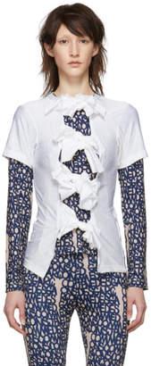 b84e138085a Comme des Garcons White Multiple Bow Tie T-Shirt