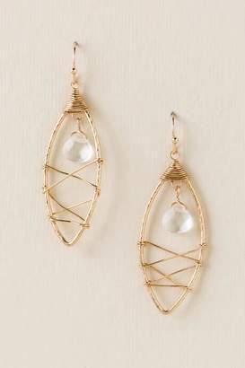 francesca's Ella Wire Wrapped Earrings - Gold