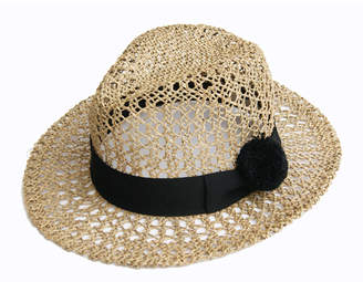 Justine Hats Straw Hat with Black Pompom