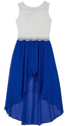 Amy Byer Lace Walk-Thru Romper Dress (Big Girls)