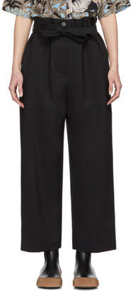 3.1 Phillip Lim Black Paper Bag Cropped Trousers
