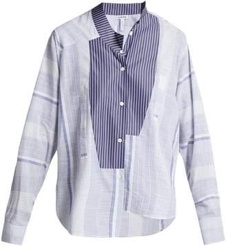 Loewe Asymmetric striped cotton shirt
