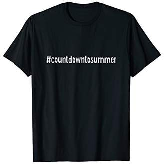 Countdown to Summer Hashtag t-shirt No School Camp Vacation