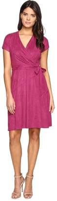 Ellen Tracy Short Sleeved Faux Suede Dress Women's Dress