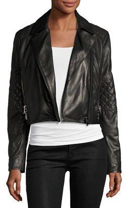 J Brand Adaire Leather Moto Jacket, Black $998 thestylecure.com