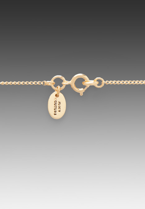 Juicy Couture Charm Minis Pave Key Necklace
