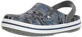 Crocs Men's Crocband Camo Graphic III Clog Slate Grey