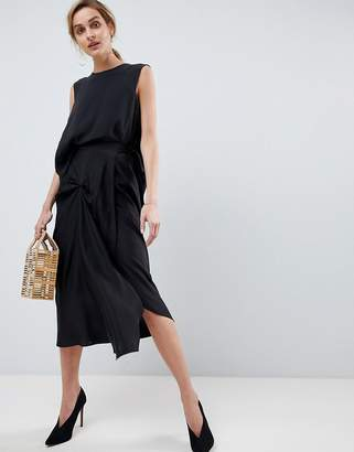 Asos Silk Skirt with Tuck Detail