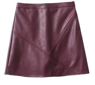 Goodnight Macaroon 'Peyton' Faux Leather Mini Skirt (4 Colors)