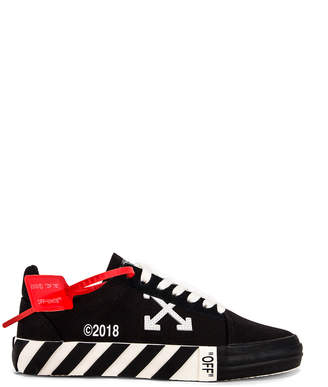 Off-White Off White Striped Low Top Sneaker in Black | FWRD