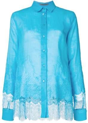 Ermanno Scervino lace panel shirt