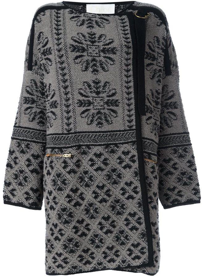 Chloé Chloé jacquard coat