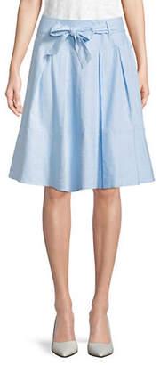 Isaac Mizrahi IMNYC Pleated Knee-Length Skirt