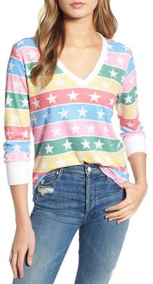 Wildfox Couture Leroy - Stellar Stripe Thermal Tee