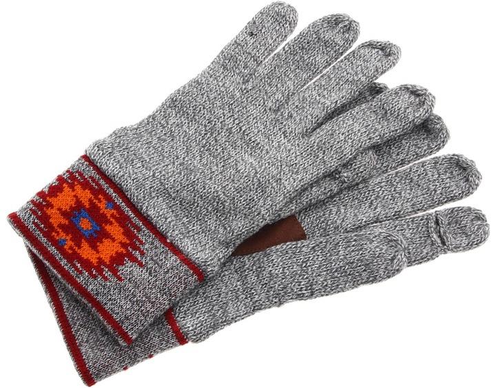 Obey Navajo Gloves (Heather Grey) - Accessories