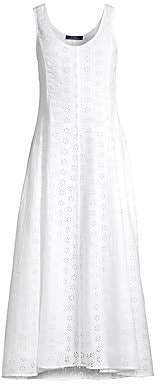Polo Ralph Lauren Women's Lace Eyelet Linen A-Line Dress