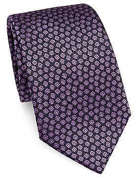 Ermenegildo Zegna Men's Floral Print Tie