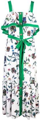 Derek Lam 10 Crosby Ruffle Cami Botanical Print Maxi Dress