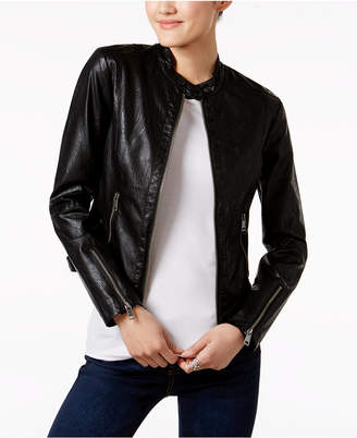Maralyn & Me Juniors' Faux-Leather Jacket $69.50 thestylecure.com