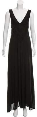 Mara Hoffman Fringe-Accented Maxi Dress w/ Tags
